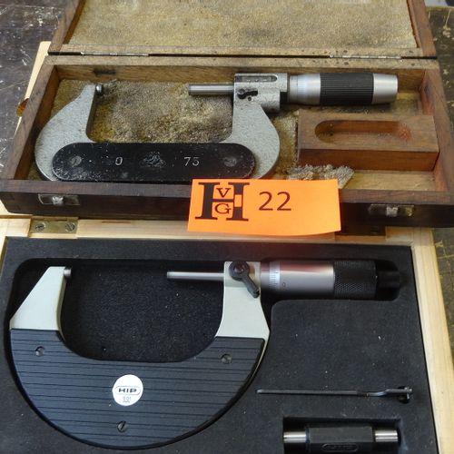 2 External micrometers 50 75 mm