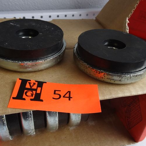 Set of 6 skids for heavy machines